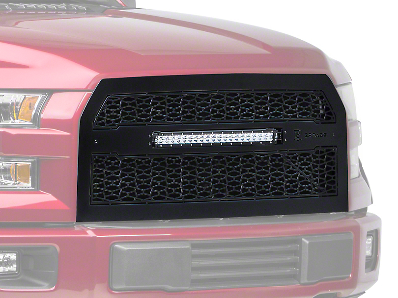 T-REX ZROADZ Series Upper Replacement Grille w/ 20 in. Slim LED Light Bar (15-17 All, Excluding Raptor)