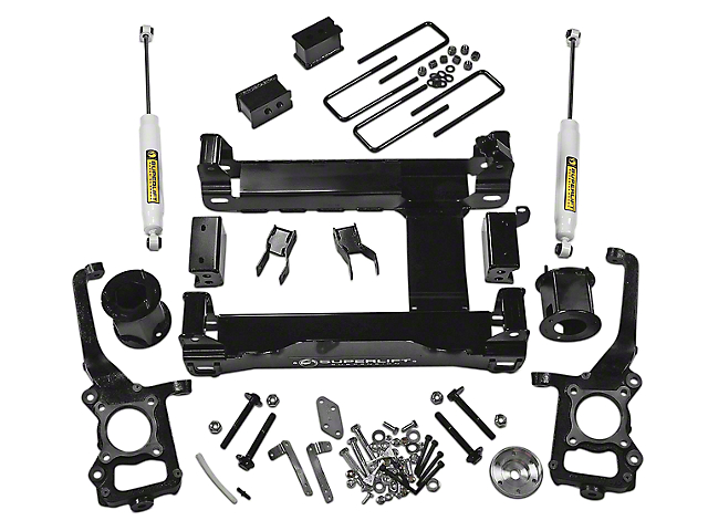 SuperLift 6-Inch Suspension Lift Kit with Shocks (15-20 4WD F-150 SuperCab, SuperCrew, Excluding Raptor)
