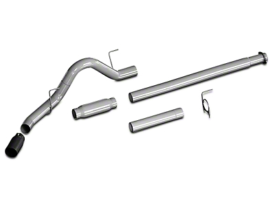 Flowmaster Outlaw Cat-Back Exhaust w/ Black Tip - Single Side Exit (15-17 3.5L EcoBoost, Excluding Raptor)