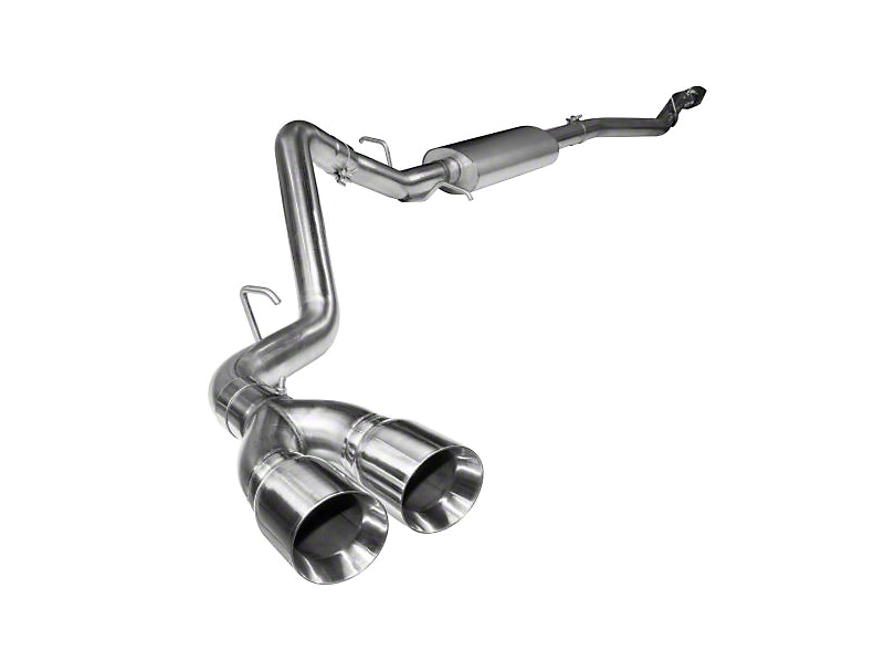 Kooks Single Exhaust System w/ Polished Tips - Side Exit (15-19 5.0L F-150)