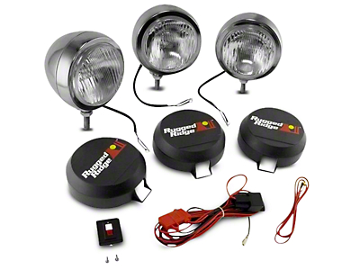 Rugged Ridge 5 in. Round HID Off-Road Fog Lights - Set of Three (97-17 All)