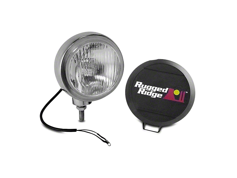 Rugged Ridge 5 in. Round HID Off-Road Fog Light - Single (97-18 All)