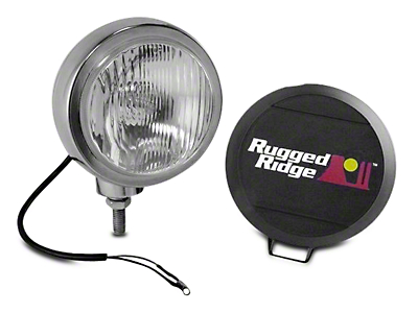 Rugged Ridge 5 in. Round HID Off-Road Fog Light - Single (97-18 All)