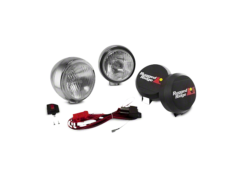 Rugged Ridge 6 in. Round HID Off-Road Fog Lights - Pair (97-18 All)