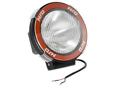 Rugged Ridge 5 in. Round HID Off-Road Fog Light w/ Black Composite Housing - Single (97-18 All)
