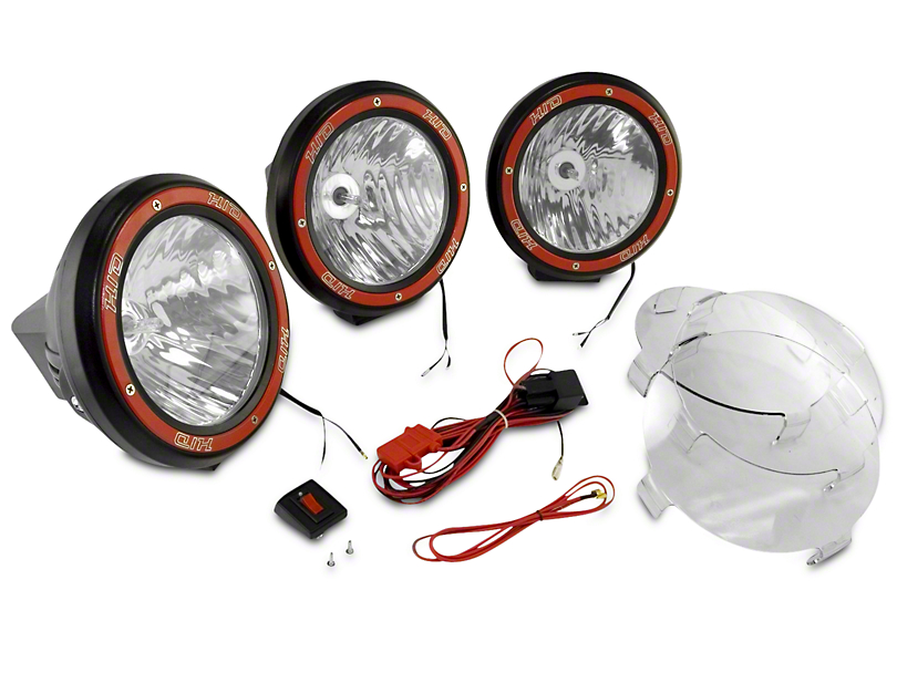 Rugged Ridge 7 in. Round HID Off-Road Fog Lights - Set of Three (97-18 F-150)