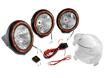 Rugged Ridge 7 in. Round HID Off-Road Fog Lights - Set of Three (97-18 All)