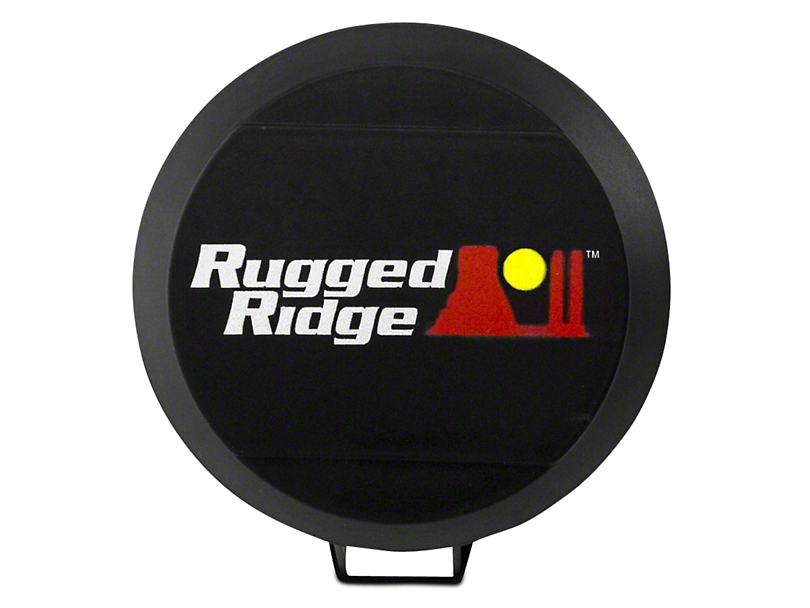 Rugged Ridge 6 in. HID Off-Road Light Cover - Black (97-18 All)