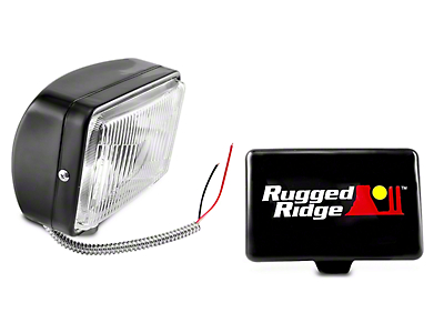 Rugged Ridge 5x7 in. Halogen Fog Light - Single (97-17 All)