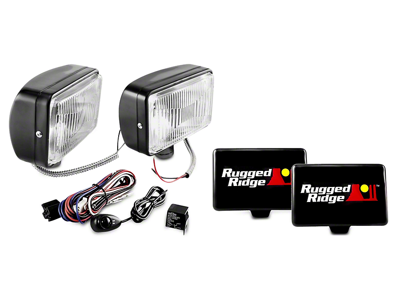 Rugged Ridge 5x7 in. Halogen Fog Lights - Pair