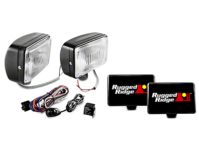 Rugged Ridge 5x7 in. Halogen Fog Lights - Pair (97-18 All)