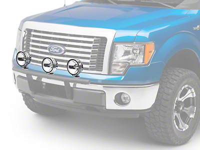 Rugged Ridge 6 in. Slim Halogen Fog Lights - Stainless Steel - Set of Three (97-18 All)