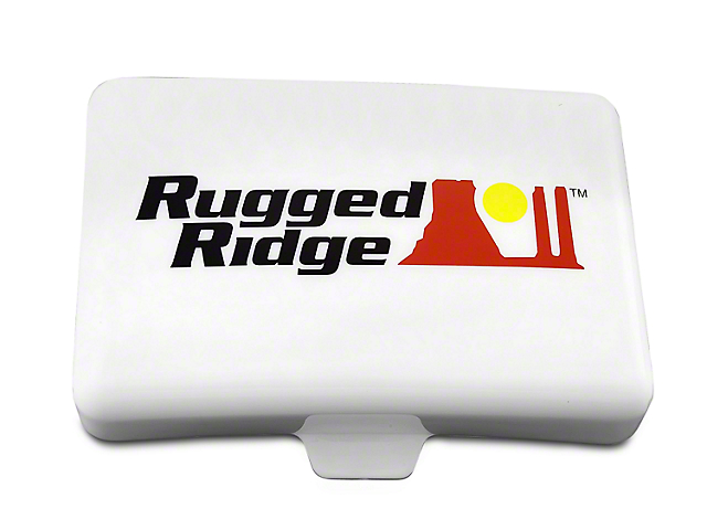 Rugged Ridge 5x7 in. Off-Road Light Cover - White (97-18 F-150)