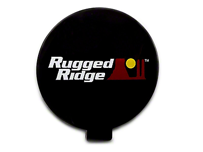 Rugged Ridge 6 in. Slim Off-Road Light Cover - Black (97-18 F-150)