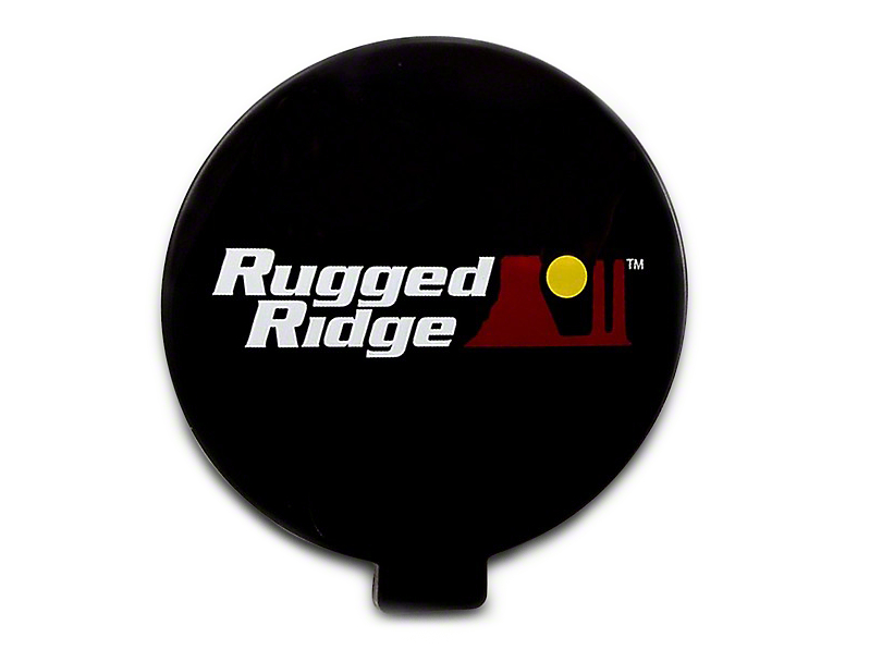Rugged Ridge 6 in. Off-Road Light Cover - Black (97-18 All)