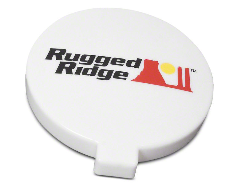 Rugged Ridge 6 in. Slim Off-Road Light Cover - White (97-17 All)