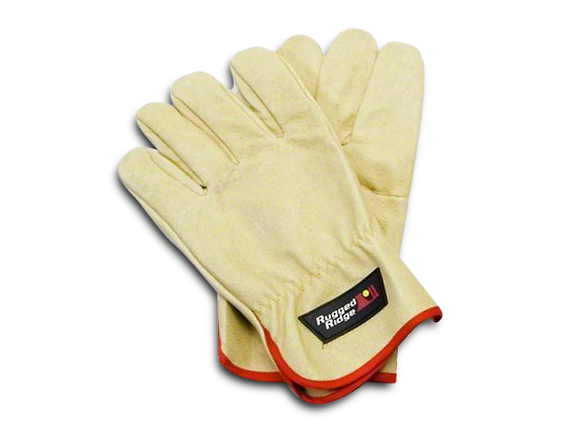 Rugged Ridge Leather Recovery Gloves - Tan (97-17 All)