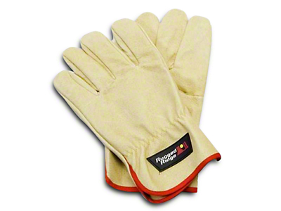 Rugged Ridge Leather Recovery Gloves - Tan (97-18 All)