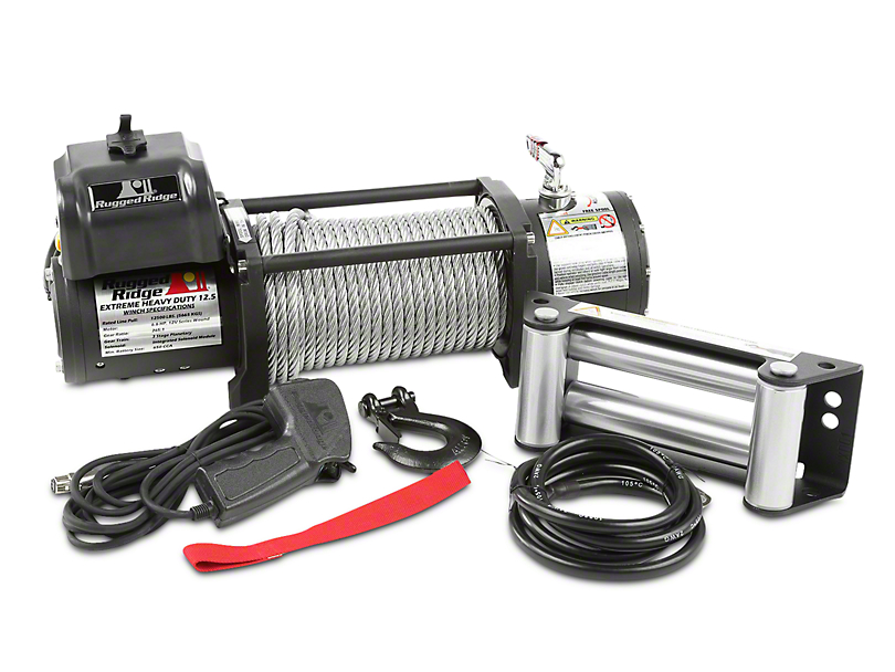 Rugged Ridge Spartacus Heavy Duty 12,500 lb. Winch w/ Steel Cable (97-17 All)