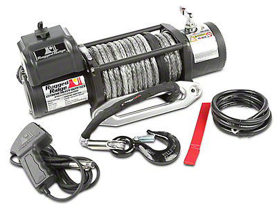 Rugged Ridge Spartacus Performance 12,500 lb. Winch w/ Synthetic Rope (97-17 All)