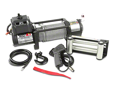 Rugged Ridge Spartacus Heavy Duty 8,500 lb. Winch w/ Steel Cable (97-17 All)