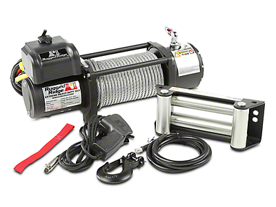Rugged Ridge Spartacus Heavy Duty 10,500 lb. Winch w/ Steel Cable (97-17 All)