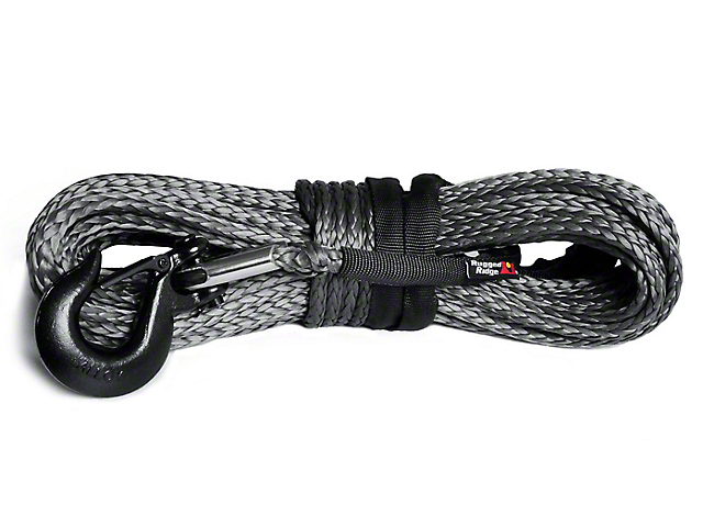 Rugged Ridge 25/64 in. x 94 ft. Dark Gray Synthetic Winch Line - 19,310 lbs (97-17 All)