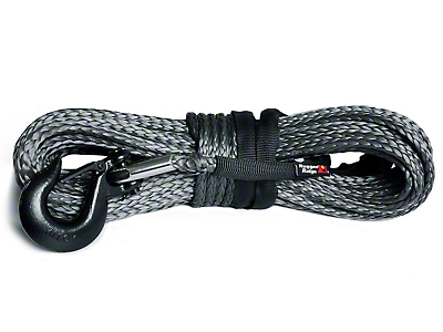 Rugged Ridge 23/64 in. x 100 ft. Dark Gray Synthetic Winch Line - 16,550 lbs. (97-17 All)