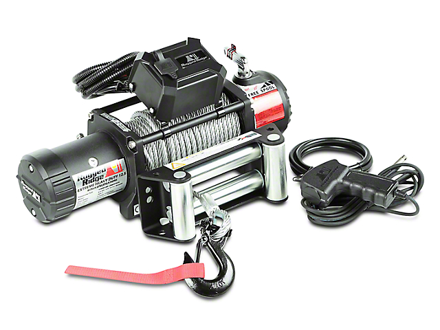 Rugged Ridge Nautic 12,500 lb. Winch w/ Steel Cable (97-17 All)