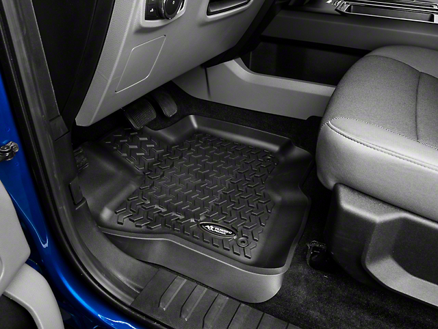 Rugged Ridge Front & Rear Floor Liners - Black (15-18 SuperCab, SuperCrew)