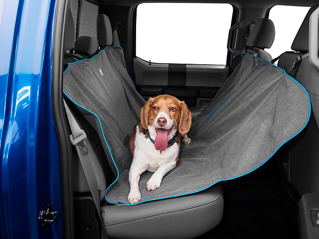 Medium image of kurgo heather pattern dog hammock   charcoal  97 18 f 150 supercab supercrew