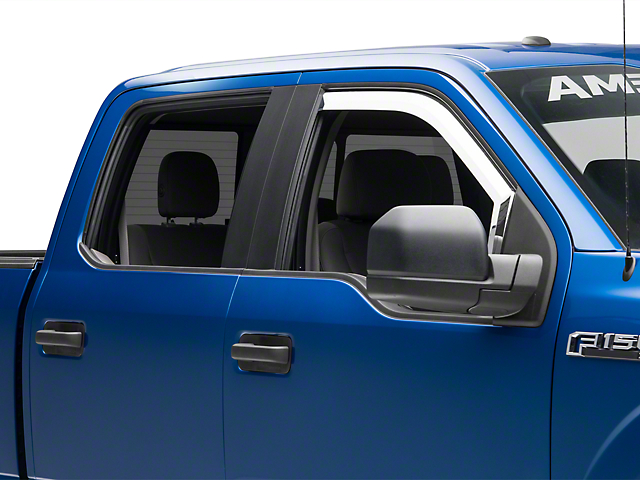 Putco Element Chrome Window Visors - Fronts Only (15-18 F-150)
