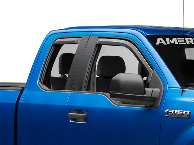 Putco Element Tinted Window Visors - Front & Rear (15-18 SuperCab, SuperCrew)