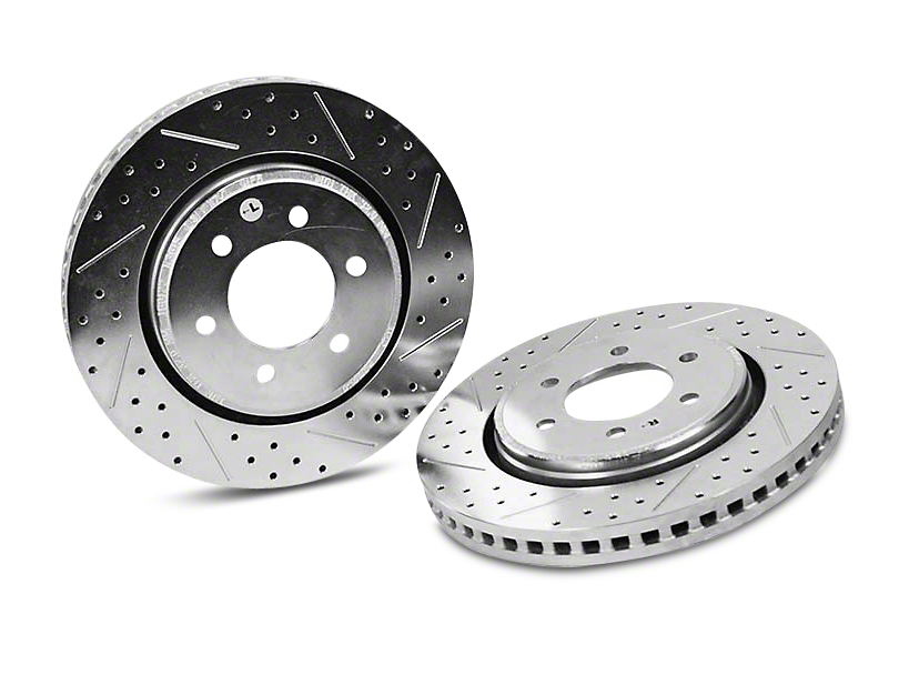 Baer Sport Drilled & Slotted 6-Lug Rotors - Front Pair (10-18 2WD/4WD)