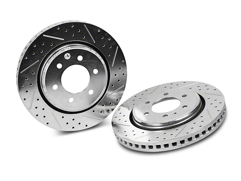 Baer Sport Drilled & Slotted 6-Lug Rotors - Rear Pair (04-17 2WD/4WD)