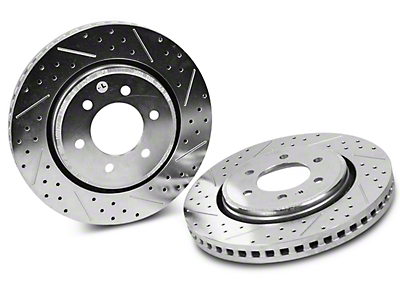 Baer Sport Drilled & Slotted 6-Lug Rotors - Rear Pair (12-17 2WD/4WD)