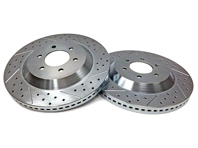 Baer EradiSpeed1 Drilled & Slotted 6-Lug Rotors - Front Pair (04-08 2WD/4WD)