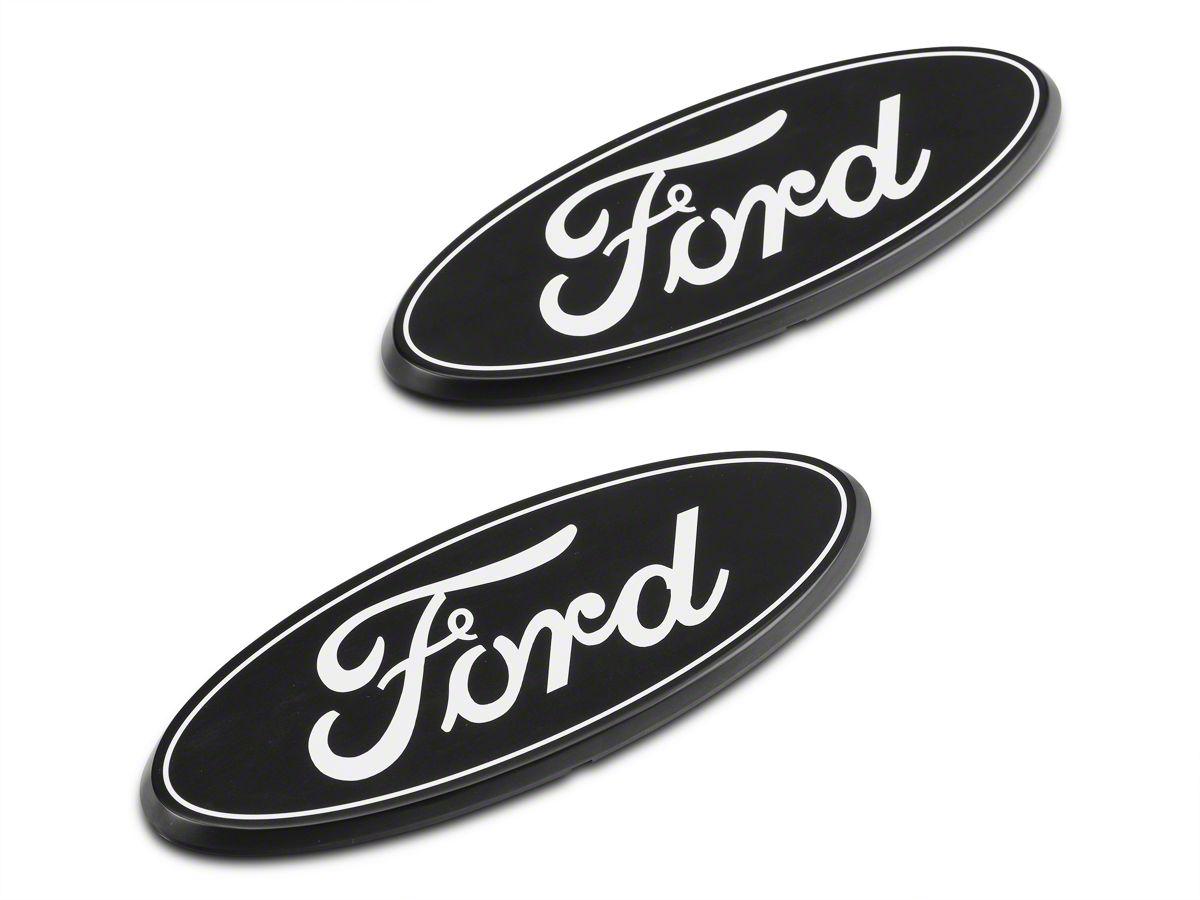Putco Grille Tailgate Emblems Black 09 14 F 150