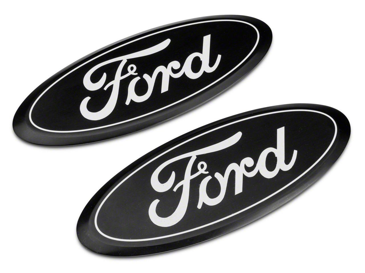 Putco Billet Aluminum Ford Oval Emblem - Black (15-17 F-150 XL, XLT, Lariat, Raptor, King Ranch w/ Center-Mounted Tailgate Emblem)