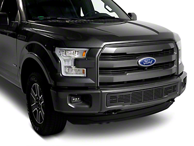 Putco Bar Design Lower Bumper Grille Insert w/ Heater Plug Opening - Black (15-17 F-150, Excluding Raptor)