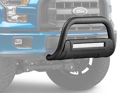 Barricade HD Bull Bar w/ Skid Plate & 20 in. Dual-Row LED Light Bar - Textured Black (04-18 All, Excluding Raptor)