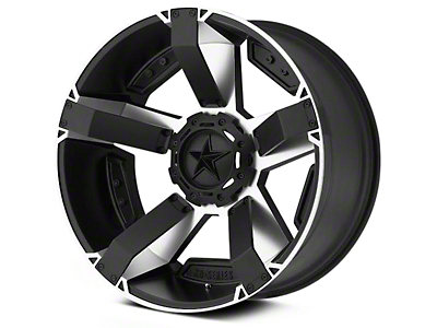 Rockstar XD811 RS2 Black Machined 6-Lug Wheel - 22x9.5 (04-18 All)