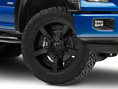 Rockstar XD811 RS2 Satin Black 6-Lug Wheel - 22x9.5 (04-18 F-150)