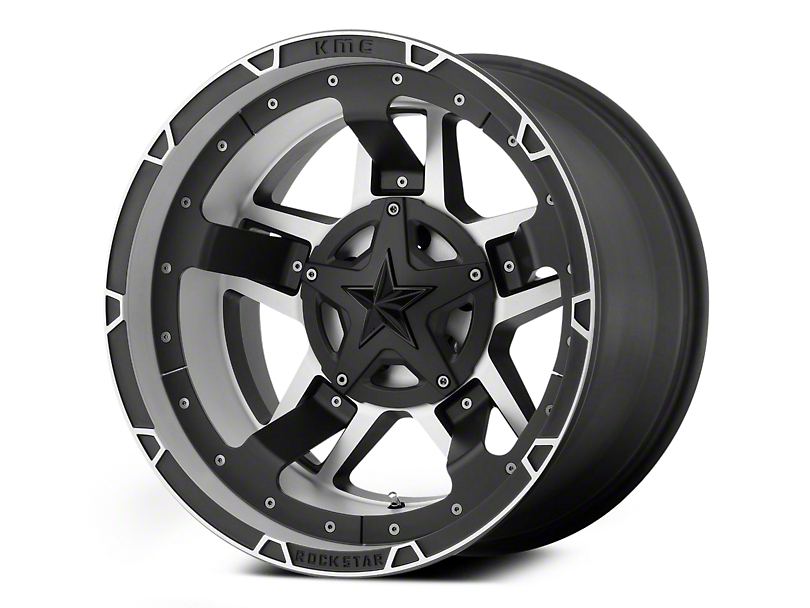 Rockstar XD827 RS3 Matte Black Machined 6-Lug Wheel - 22x10 (04-18 F-150)