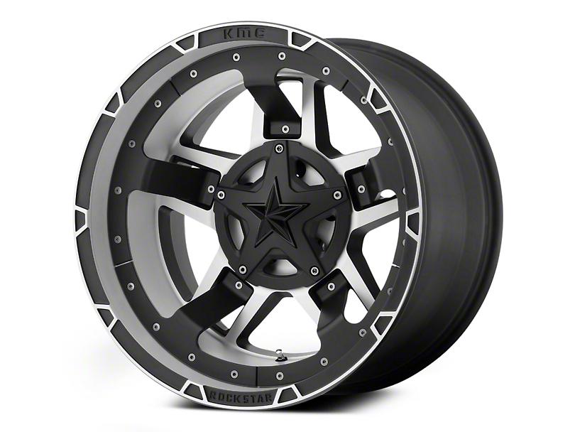 Rockstar XD827 RS3 Matte Black Machined 6-Lug Wheel - 22x12 (04-18 F-150)