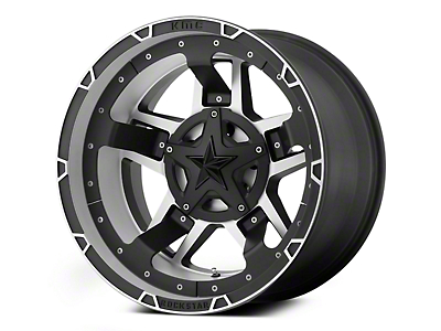 Rockstar XD827 RS3 Matte Black Machined 6-Lug Wheel - 22x12 (04-18 All)