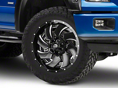Fuel Wheels Cleaver Black Milled 6-Lug Wheel - 22x10 (04-18 All)