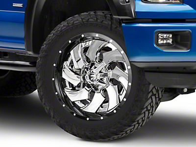 Fuel Wheels Cleaver Chrome w/ Gloss Black 6-Lug Wheel - 22x10 (04-17 All)