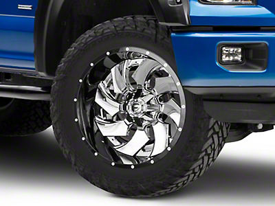 Fuel Wheels Cleaver Chrome w/ Gloss Black 6-Lug Wheel - 22x12 (04-18 All)