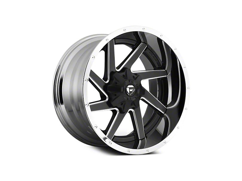 Fuel Wheels Renegade Black Milled w/ Chrome 6-Lug Wheel - 22x10 (04-18 All)